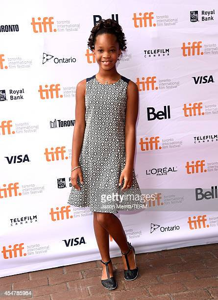 Actress Quvenzhané Wallis attends the Kahlil Gibran's The Prophet premiere during the 2014 Toronto International Film Festival at Ryerson Theatre on...