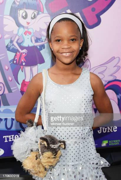 Actress Quvenzhane Wallis arrives at the 'My Little Pony Equestria Girls' premiere during the 2013 Los Angeles Film Festival at Regal Cinemas LA Live...