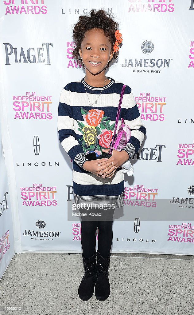 Actress Quvenzhane Wallis attends the 2013 Film Independent Filmmaker Grant And Spirit Awards Nominees Brunch at BOA Steakhouse on January 12, 2013 in West Hollywood, California.