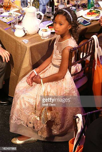 Actress Quvenzhane Wallis attends the 2013 Film Independent Spirit Awards at Santa Monica Beach on February 23 2013 in Santa Monica California