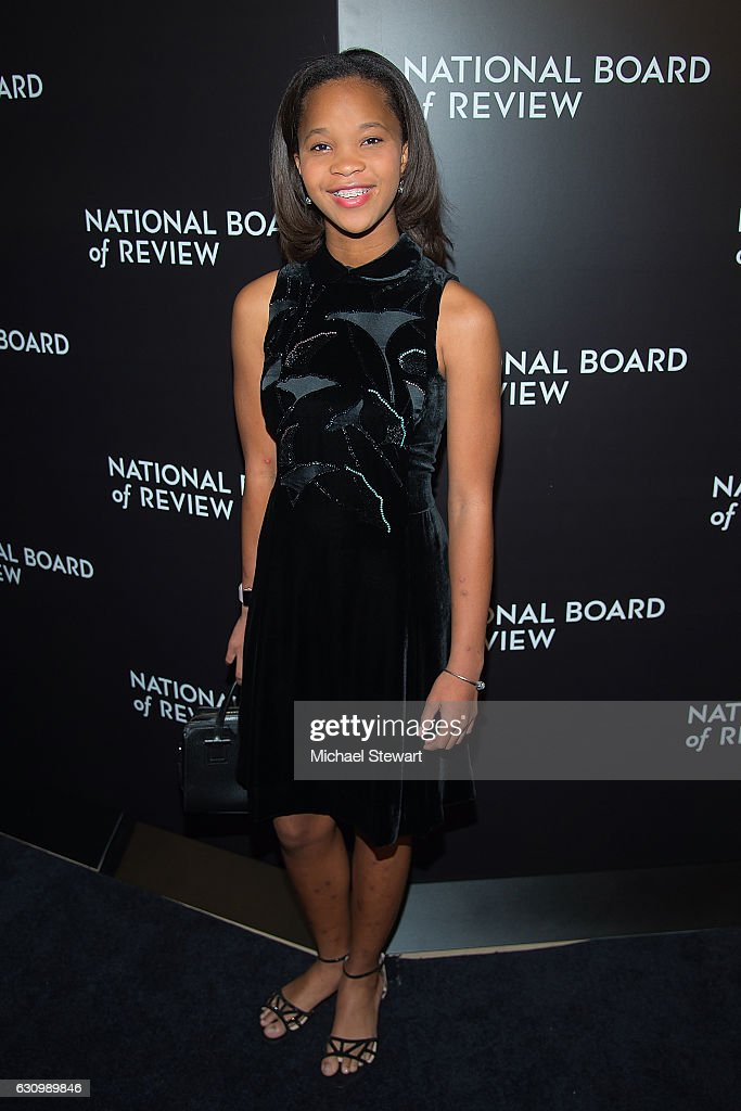 Actress Quvenzhane Wallis attends the 2016 National Board of Review Gala at Cipriani 42nd Street on January 4, 2017 in New York City.