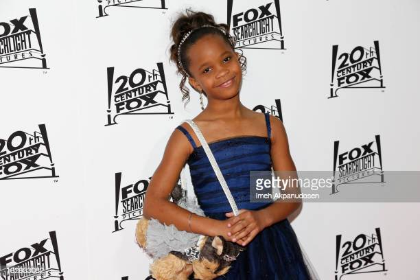 Actress Quvenzhane Wallis attends the 20th Century Fox And Fox Searchlight Pictures' Academy Award Nominees Celebration at Lure on February 24 2013...