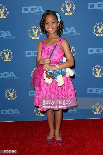 Actress Quvenzhane Wallis attends the 65th Annual Directors Guild Of America Awards at Ray Dolby Ballroom at Hollywood Highland on February 2 2013 in...