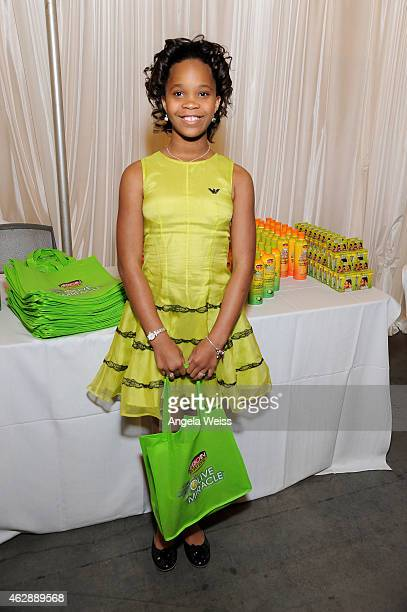 Actress Quvenzhane Wallis attends the Backstage Creations Celebrity Retreat at 46th NAACP Image Awards at Pasadena Civic Auditorium on February 6...