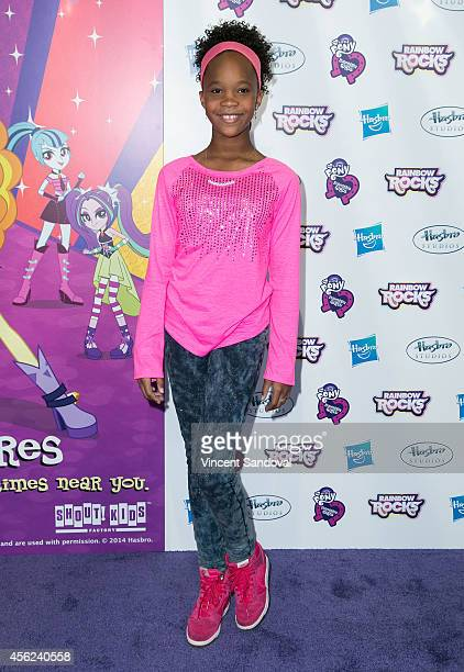 Actress Quvenzhane Wallis attends the Los Angeles special screening of 'My Little Pony Equestria Girls Rainbow Rocks' at TCL Chinese 6 Theatres on...