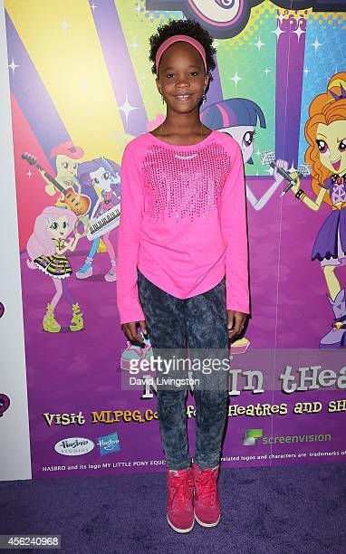 Actress Quvenzhane Wallis attends the premiere of Hasbro Studios' 'My Little Pony Equestria Girls Rainbow Rocks' at the TCL Chinese 6 Theatres on...