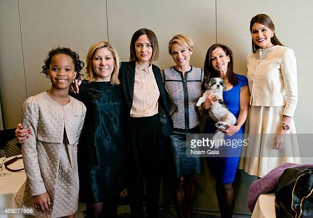Actress Quvenzhane Wallis Editor In Chief of More Magazine Lesley Jane Seymourand actress Rose Byrne news anchor Amy Robach Women's Entrepreneurship...