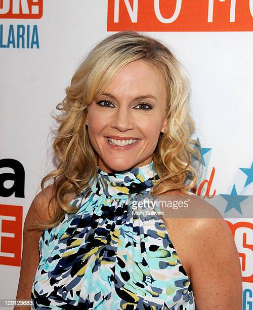 Actress Rachael Harris arrives for Malaria No More Presents Hollywood Bites Back at Club Nokia on April 16 2011 in Los Angeles California