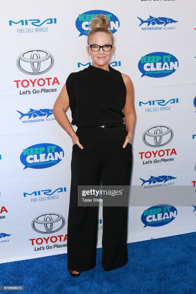 Actress Rachael Harris attends Keep it Clean Live Comedy Benefit for Waterkeeper Alliance at Avalon Hollywood on April 20, 2017 in Los Angeles, California.