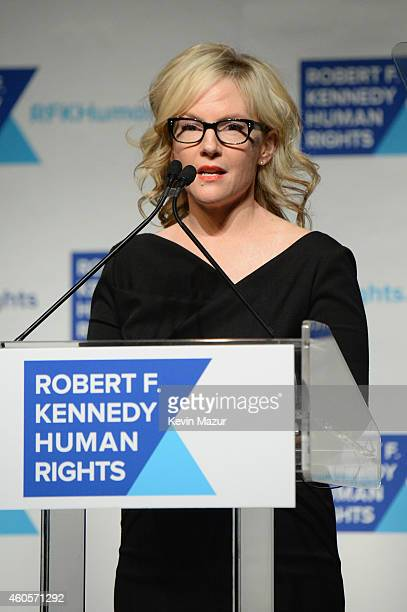 Actress Rachael Harris speaks onstage at the RFK Ripple Of Hope Gala at Hilton Hotel Midtown on December 16 2014 in New York City