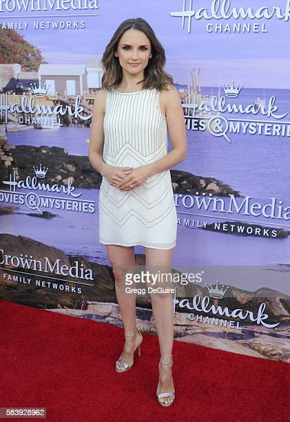 Actress Rachael Leigh Cook arrives at the Hallmark Channel and Hallmark Movies and Mysteries Summer 2016 TCA Press Tour Event on July 27 2016 in...