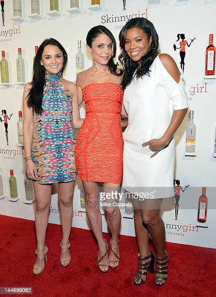 Actress Rachael Leigh Cook entrepreneur/television personality Bethenny Frankel and actress Gabrielle Union pose for a picture at Drive In Studios on...