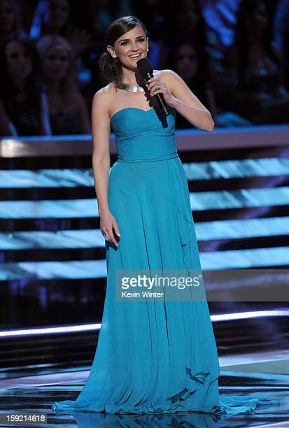 Actress Rachael Leigh Cook speaks onstage at the 39th Annual People's Choice Awards at Nokia Theatre LA Live on January 9 2013 in Los Angeles...