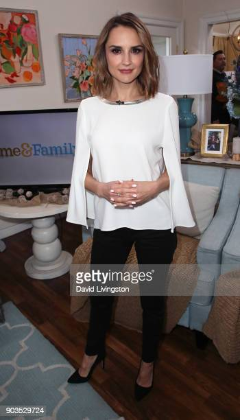 Actress Rachael Leigh Cook visits Hallmark's 'Home Family' at Universal Studios Hollywood on January 10 2018 in Universal City California
