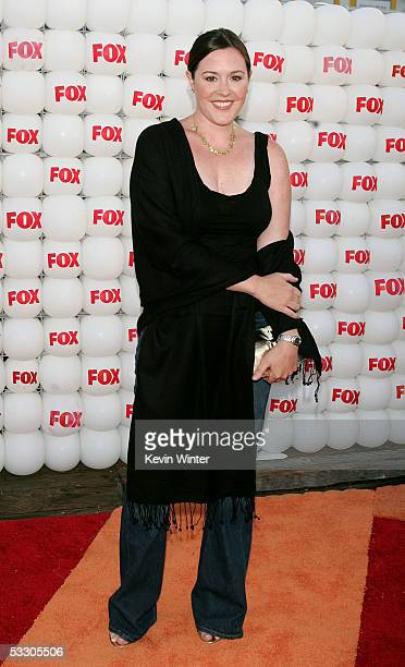 Actress Rachael MacFarlane arrives at Fox All-Star Television Critics Association party at Santa Monica Pier on July 29, 2005 in Santa Monica,...