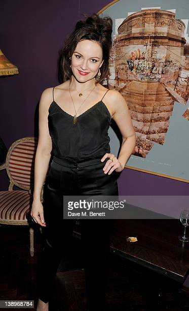 Actress Rachael Stirling attends an after party following the press night performance of Donmar Warehouse's 'The Recruiting Officer' at The Hospital...