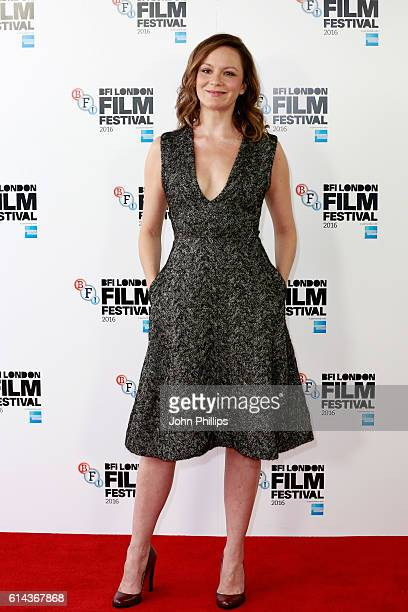 Actress Rachael Stirling attends 'Their Finest' photocall during the 60th BFI London Film Festival at The Mayfair Hotel on October 13 2016 in London...