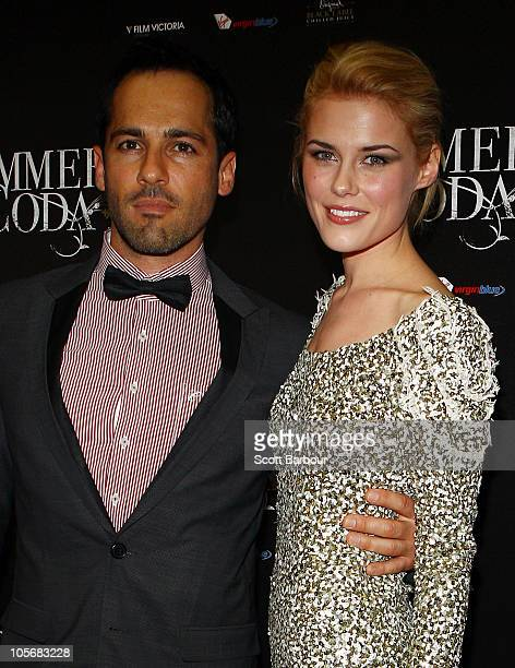 Actress Rachael Taylor and Alex Dimitriades arrive for the Melbourne premiere of 'Summer Coda' on October 19 2010 in Melbourne Australia