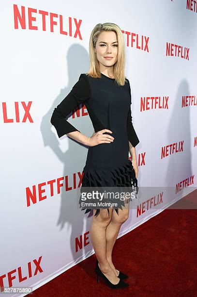 Actress Rachael Taylor arrives at the Netflix original series 'Marvel's Jessica Jones' FYC Screening and QA at Paramount Studios on May 3 2016 in...