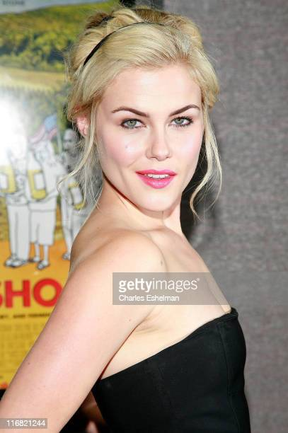 Actress Rachael Taylor arrives at the premiere of 'Bottle Shock' at Cinema 2 on August 4 2008 in New York City