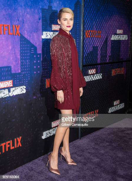 Actress Rachael Taylor attends Netflix's 'Marvel's Jessica Jones' Season 2 Premiere at AMC Loews Lincoln Square on March 7 2018 in New York City
