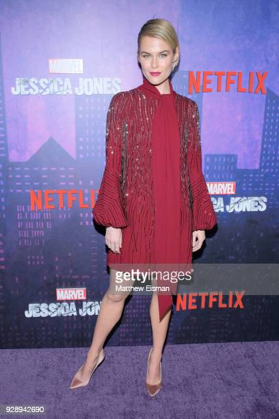 Actress Rachael Taylor attends the 'Jessica Jones' Season 2 New York Premiere at AMC Loews Lincoln Square on March 7 2018 in New York City