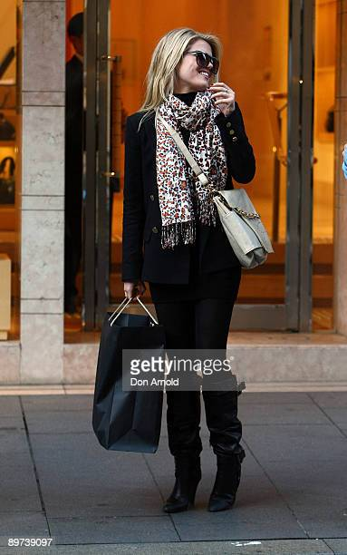 Actress Rachael Taylor visits luxury jewellers Bulgari at Castlereagh Street on August 11, 2009 in Sydney, Australia. Taylor is a supporter of the...