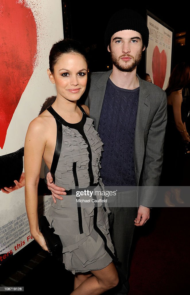 Actress Rachel Bilson (L) and actor Tom Sturridge arrive at the Los Angeles Premiere of 'Waiting For Forever' held at the Pacific Theatres at The Grove on February 1, 2011 in Los Angeles, California.