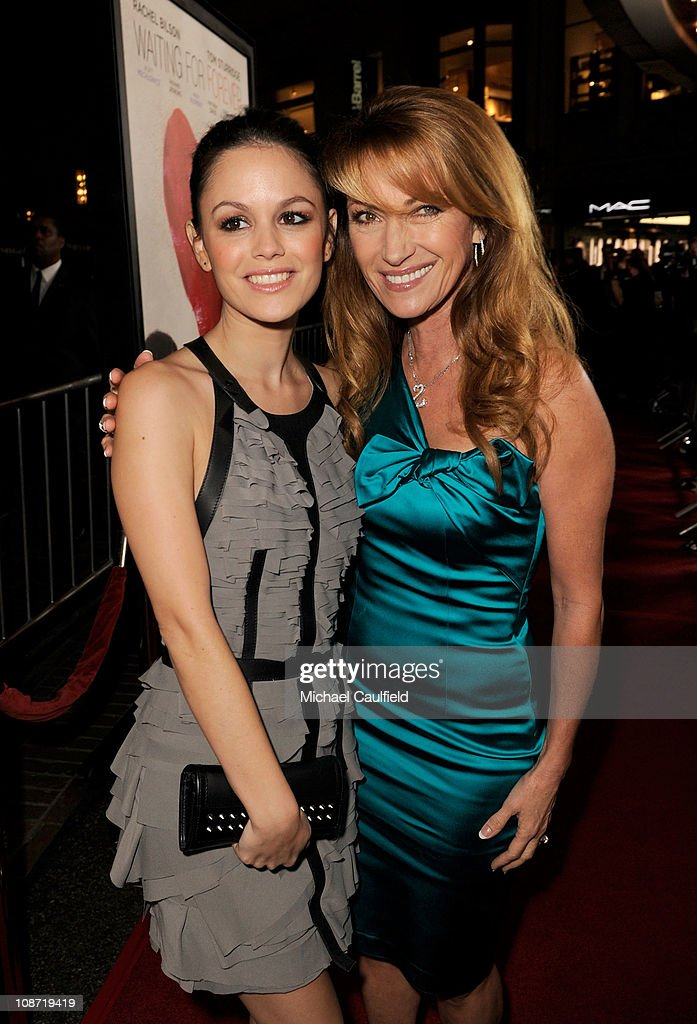 Actress Rachel Bilson (L) and Executive Producer Jane Seymour arrive at the Los Angeles Premiere of 'Waiting For Forever' held at the Pacific Theatres at The Grove on February 1, 2011 in Los Angeles, California.