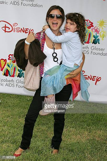 Actress Rachel Bilson and her sister attend A Time for Heroes Celebrity Carnival sponsored by Disney to benefit the Elizabeth Glaser Pediatric AIDS...
