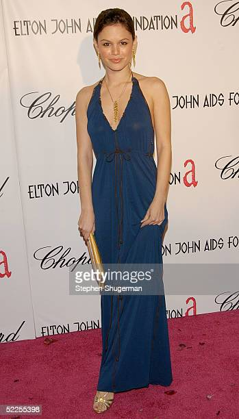 Actress Rachel Bilson arrives at the 13th Annual Elton John Aids Foundation Academy Awards Viewing Party at the Pacific Design Center on February 27...