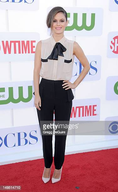 Actress Rachel Bilson arrives at the CBS Showtime and The CW 2012 TCA summer tour party at 9900 Wilshire Blvd on July 29 2012 in Beverly Hills...