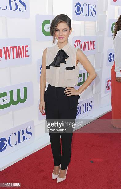 Actress Rachel Bilson arrives at the CW CBS and Showtime 2012 Summer TCA party held at The Beverly Hilton Hotel on July 29 2012 in Beverly Hills...