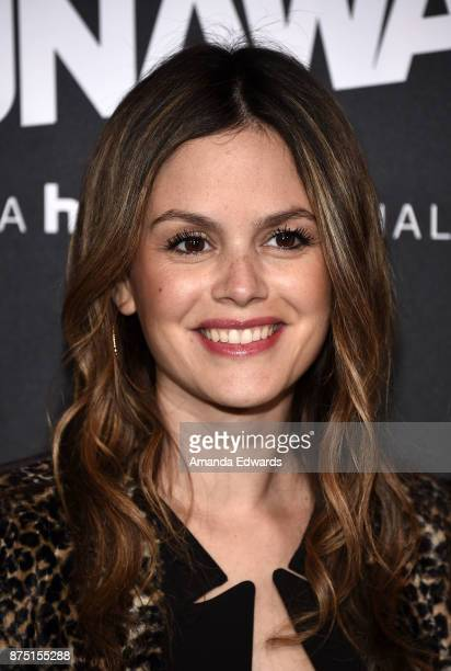 Actress Rachel Bilson arrives at the premiere of Hulu's Marvel's Runaways at the Regency Bruin Theatre on November 16 2017 in Los Angeles California