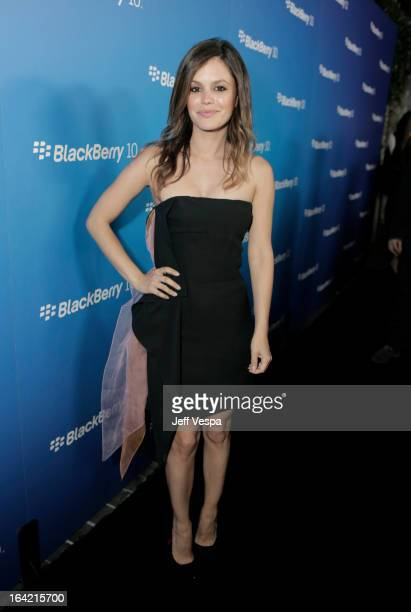 Actress Rachel Bilson attends a celebration of the BlackBerry Z10 Smartphone launch at Cecconi's Restaurant on March 20 2013 in Los Angeles California