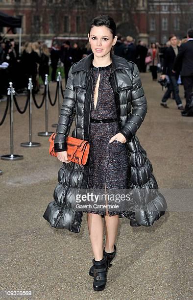 Actress Rachel Bilson attends the Burberry Prorsum Show at London Fashion Week Autumn/Winter 2011 at Kensington Gardens on February 21 2011 in London...