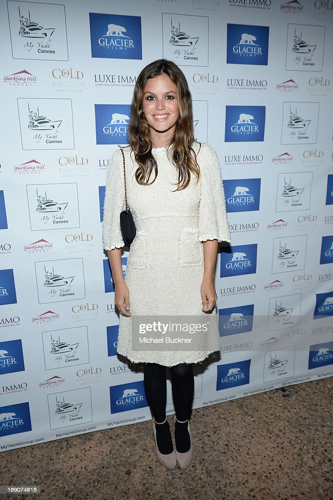 Actress Rachel Bilson attends the Glacier Films launch party hosted by Hayden C and Michael Saylor aboard the Yacht Harle on May 19, 2013 in Cannes, France.
