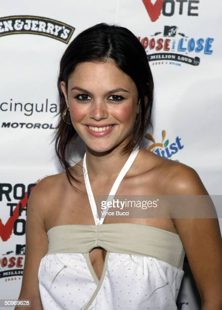 Actress Rachel Bilson attends the Rock The Vote Bus Tour Launch Concert on June 16 2004 at the Avalon in Hollywood California