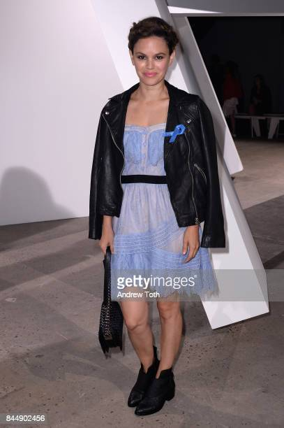 Actress Rachel Bilson attends the SelfPortrait Spring Summer 2018 Front Row during New York Fashion Week on September 9 2017 in New York City