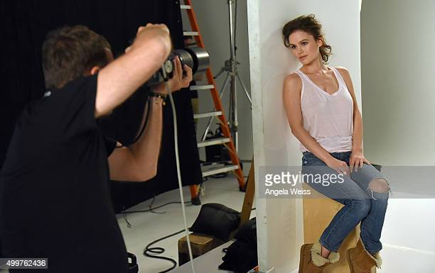 Actress Rachel Bilson shows off her healthy looking lips on the set of a ChapStick advertising shoot in Los Angeles on Wednesday Dec 2 2015...
