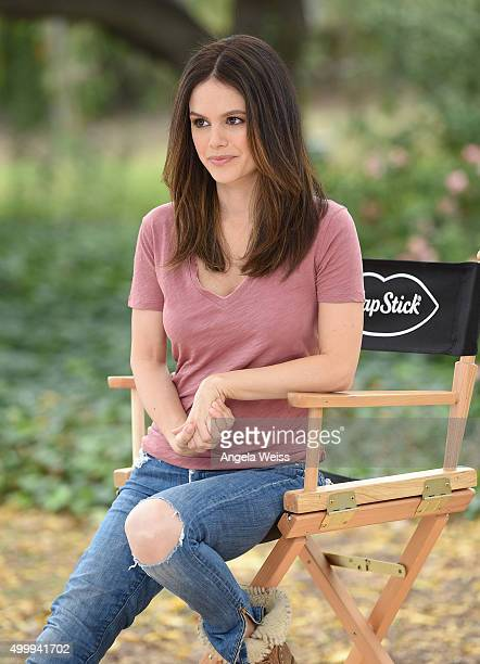 Actress Rachel Bilson shows off her healthy looking lips on the set of a ChapStick advertising shoot in Los Angeles on Thursday Dec 3 2015 ChapStick...