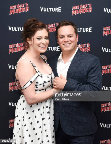 Actress Rachel Bloom and director Dan Gregor attend Vulture and Lionsgate Present Most Likely to Murder at The London Hotel on April 30, 2018 in West...