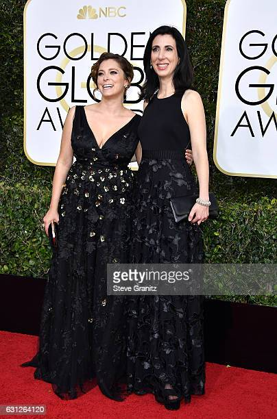 Actress Rachel Bloom and producer Aline Brosh McKenna attend the 74th Annual Golden Globe Awards at The Beverly Hilton Hotel on January 8 2017 in...