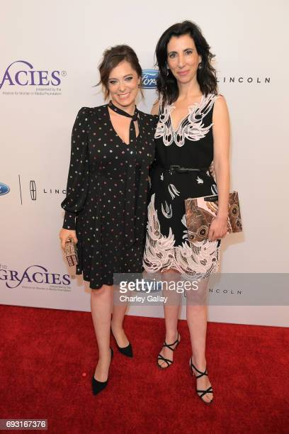 Actress Rachel Bloom and screenwriter Aline Brosh McKenna attend the 42nd Annual Gracie Awards Gala hosted by The Alliance for Women in Media at the...