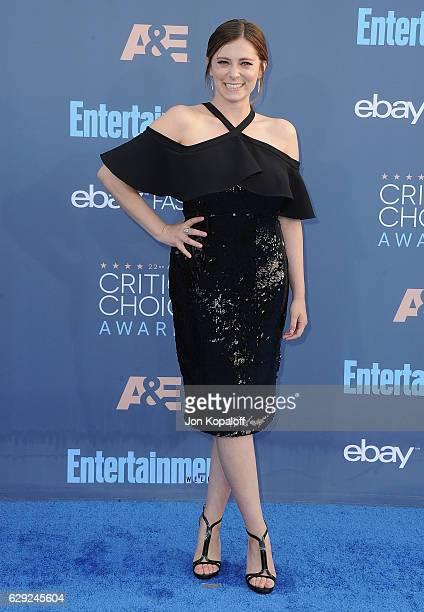 Actress Rachel Bloom arrives at The 22nd Annual Critics' Choice Awards at Barker Hangar on December 11, 2016 in Santa Monica, California.