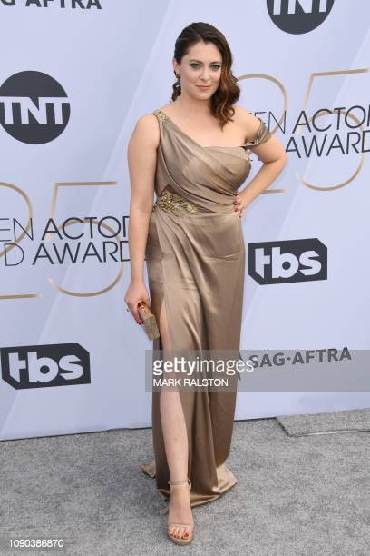 Actress Rachel Bloom arrives for the 25th Annual Screen Actors Guild Awards at the Shrine Auditorium in Los Angeles on January 27 2019