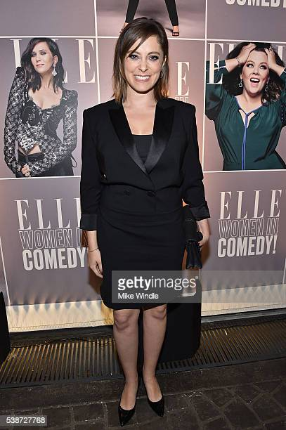 Actress Rachel Bloom attends ELLE Women In Comedy event hosted by ELLE EditorinChief Robbie Myers and Leslie Jones Melissa McCarthy Kate McKinnon and...