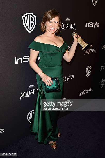 Actress Rachel Bloom attends The 2016 InStyle And Warner Bros 73rd Annual Golden Globe Awards PostParty at The Beverly Hilton Hotel on January 10...