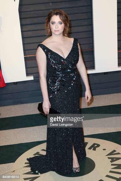 Actress Rachel Bloom attends the 2017 Vanity Fair Oscar Party hosted by Graydon Carter at the Wallis Annenberg Center for the Performing Arts on...