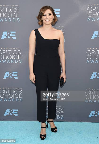 Actress Rachel Bloom attends the 21st Annual Critics' Choice Awards at Barker Hangar on January 17 2016 in Santa Monica California